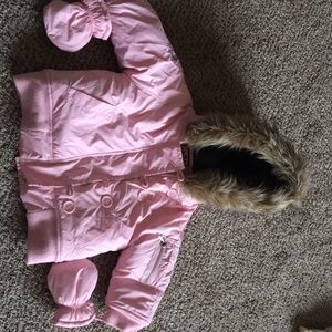 Juicy Couture infant coat with mittens